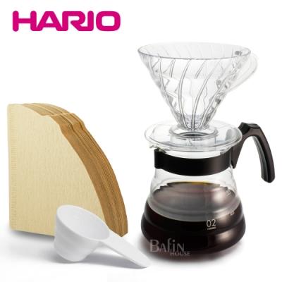 【HARIO】百年紀念手沖壺組(濾紙+濾杯+咖啡壺)