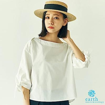 earth music 袖綁帶造型襯衫上衣