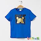 bossini男童-小熊維尼印花短袖T恤03淡藍