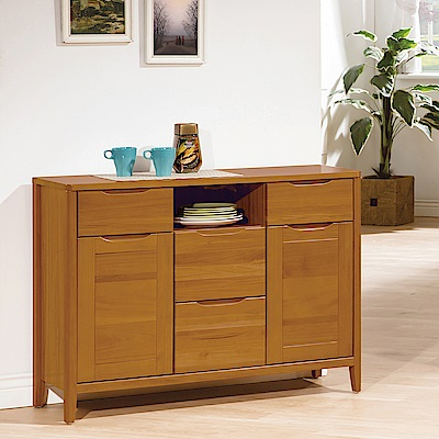 H&D 米堤柚木色3.6尺餐櫃