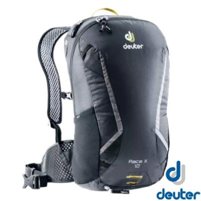 Deuter 新 Race X 12L 超輕量拔熱式排汗透氣單車健行背包(附防雨罩)_黑