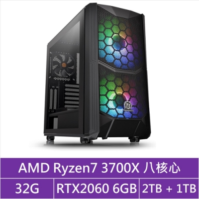 (無卡分期12期)華碩X570平台[貪婪月王]R7八核RTX2060獨顯電玩機