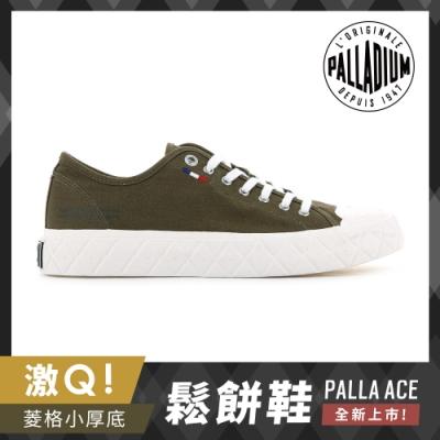 PALLADIUM PALLA ACE CVS格紋厚底帆布鞋-中性-墨綠色