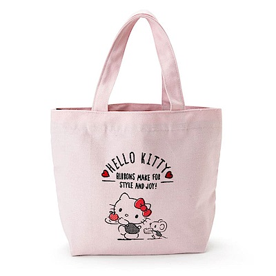 Sanrio HELLO KITTY帆布便當提袋(午餐時光)