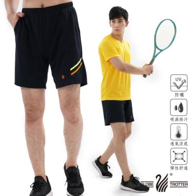 【遊遍天下】MIT台灣製中性款抗UV吸排超涼爽速乾短褲P055黑色
