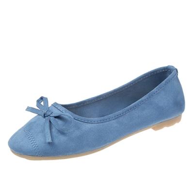 KEITH-WILL時尚鞋館 甜美玩色彈力豆豆鞋-藍色