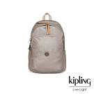 Kipling 邊緣地帶質感霧金上方拉鍊後背包-DELIA-EDGELAND系列