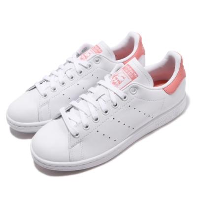 adidas 休閒鞋 Stan Smith 復古 老人頭 女鞋 板鞋 皮革 基本款 穿搭推薦 白 粉