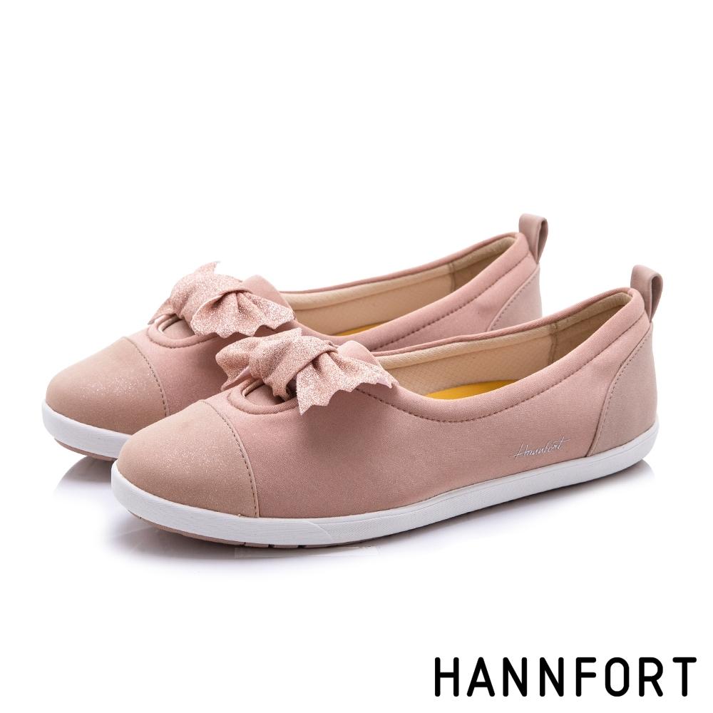 HANNFORT CALIFORNIA 星沙扭結糖果休閒鞋-女-粉