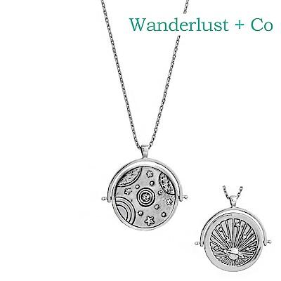 Wanderlust+Co 澳洲時尚品牌 ORBIT宇宙星空項鍊 銀色