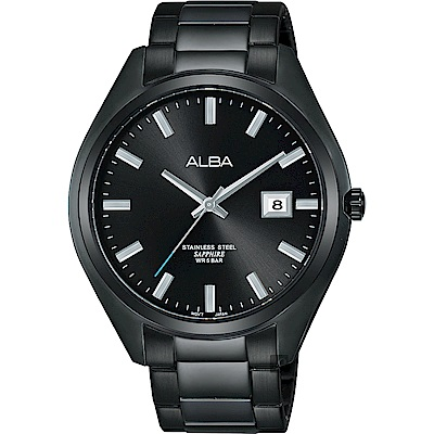 ALBA雅柏 城市情人時尚手錶(AS9F81X1)-黑/42mm