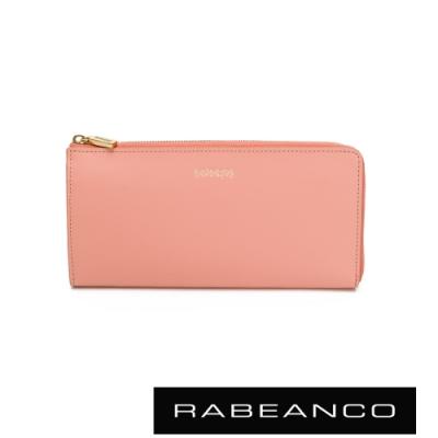 RABEANCO 迷時尚系列L型拉鍊長夾 粉色