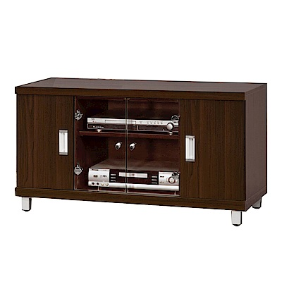 綠活居 舒莉時尚3.5尺四門電視櫃/視聽櫃-105x45x51cm-免組