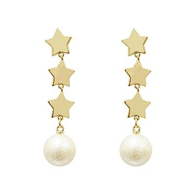 Prisme 美國時尚飾品 午夜時分 金色耳環