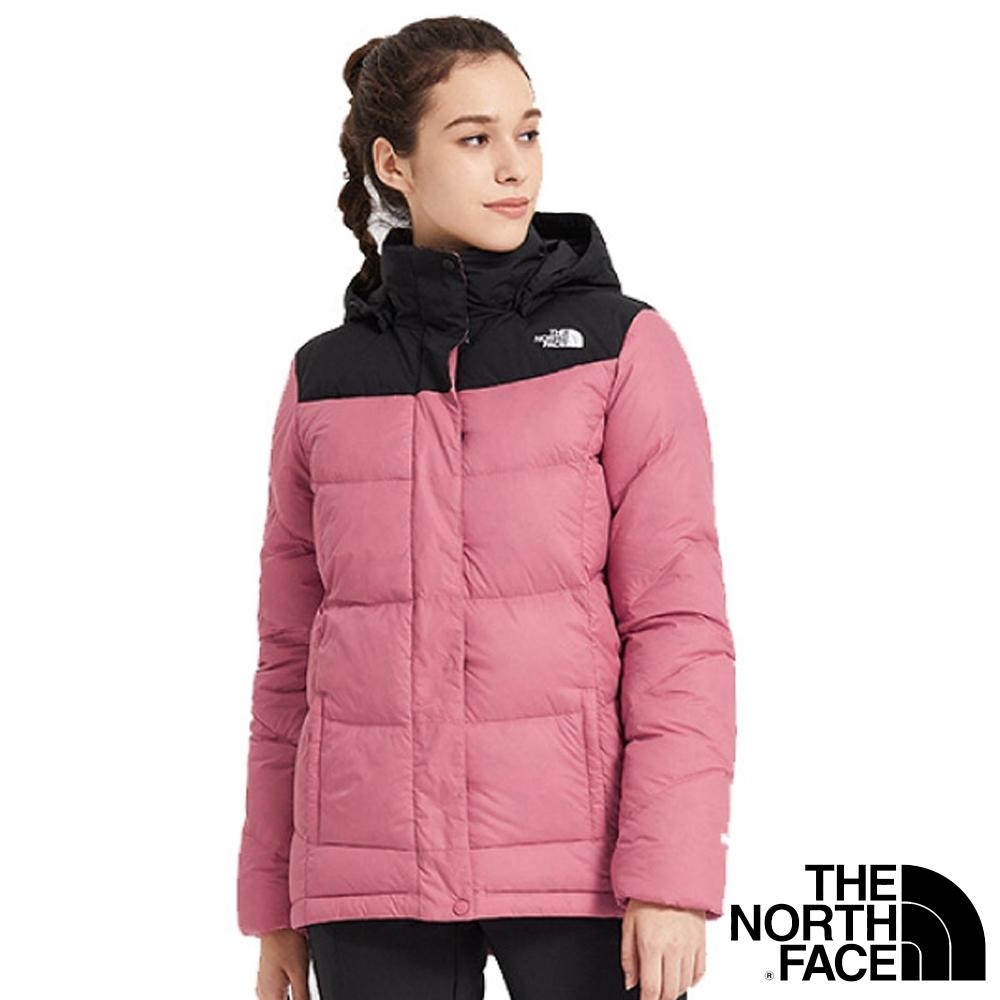 The North Face 女 鵝絨防風防潑水透氣耐磨連帽外套(羽絨衣)_粉紅