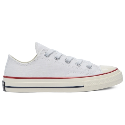 CONVERSE CHUCK 70 OX 低筒休閒鞋 中大童 白-368988C