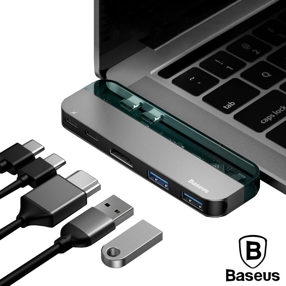 BASEUS倍思 透明系列雙頭Type-C轉Type-C/USB/HDMI影音轉接器