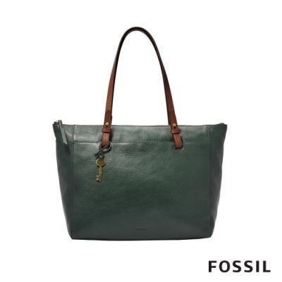 FOSSIL RACHEL真皮托特包- 雲杉綠色