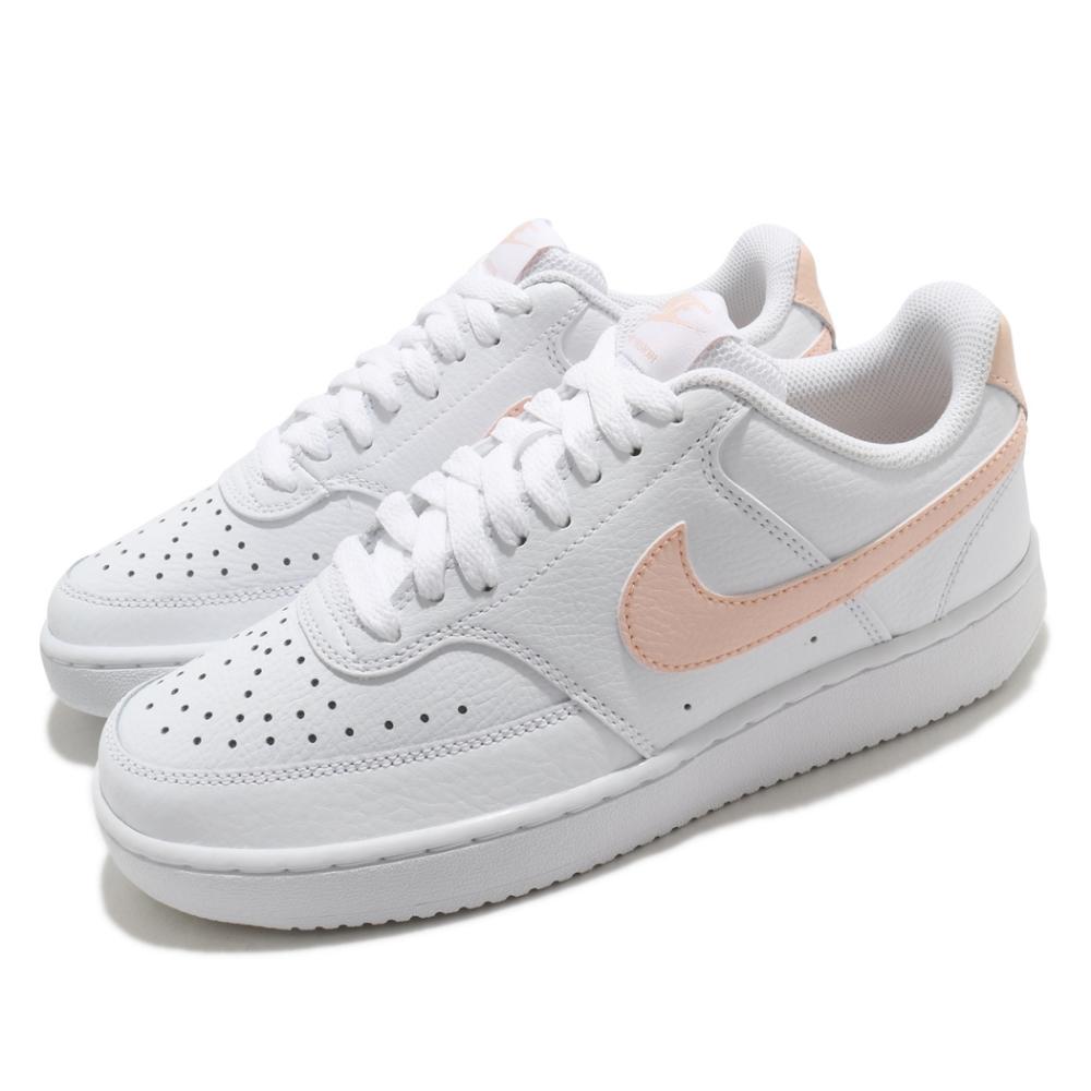 Nike 休閒鞋 Court Vision Low 運動 女鞋 基本款 簡約 舒適 質感 球鞋 穿搭 白 粉橘 CD5434105