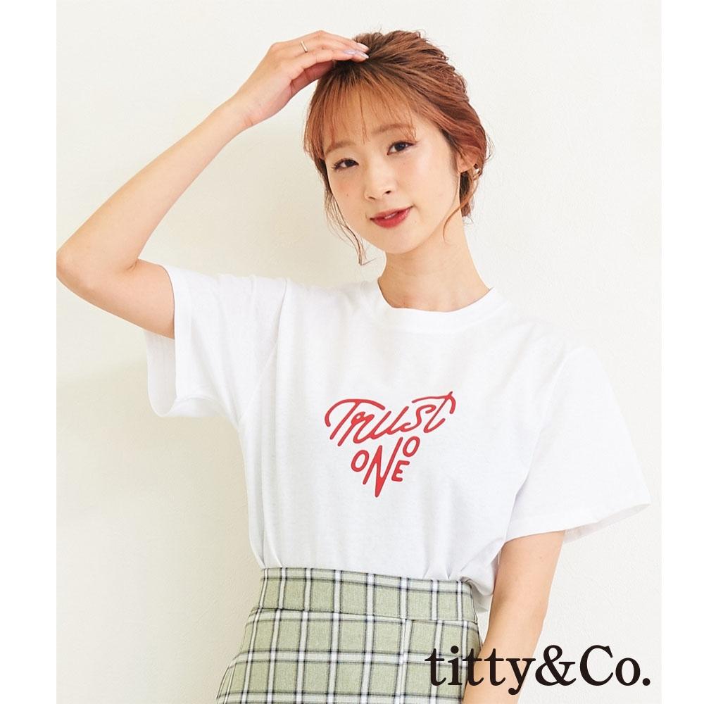 titty&Co.TRUST ONE短袖T-shirt(2色)
