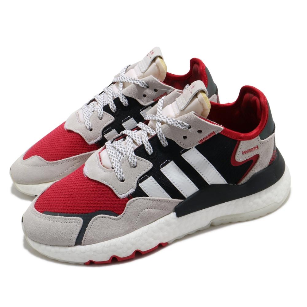 adidas 休閒鞋 Nite Jogger 流行款 男鞋 海外限定 愛迪達 三葉草 反光 穿搭 緩震 綠 黑 FV3872