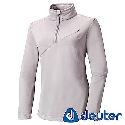 【ATUNAS 歐都納】德國DEUTER彈性保暖長袖女拉鍊衫DE-P1109W灰
