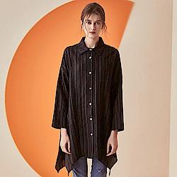時尚寬鬆條紋襯衫M-L(共三色)-CLORI