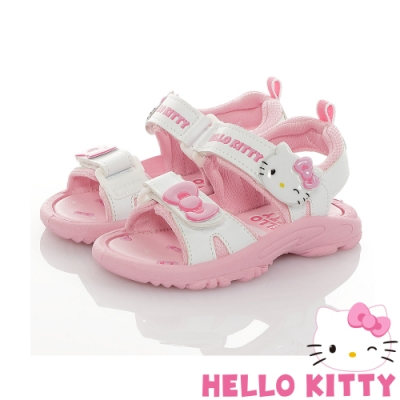 Hello Kitty童鞋 蝴蝶結系列-可愛輕量減壓休閒涼鞋-白