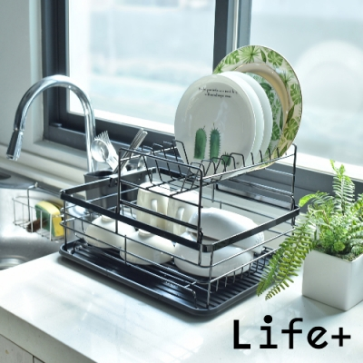 Life+ 收納美學多功能雙層瀝水架-急