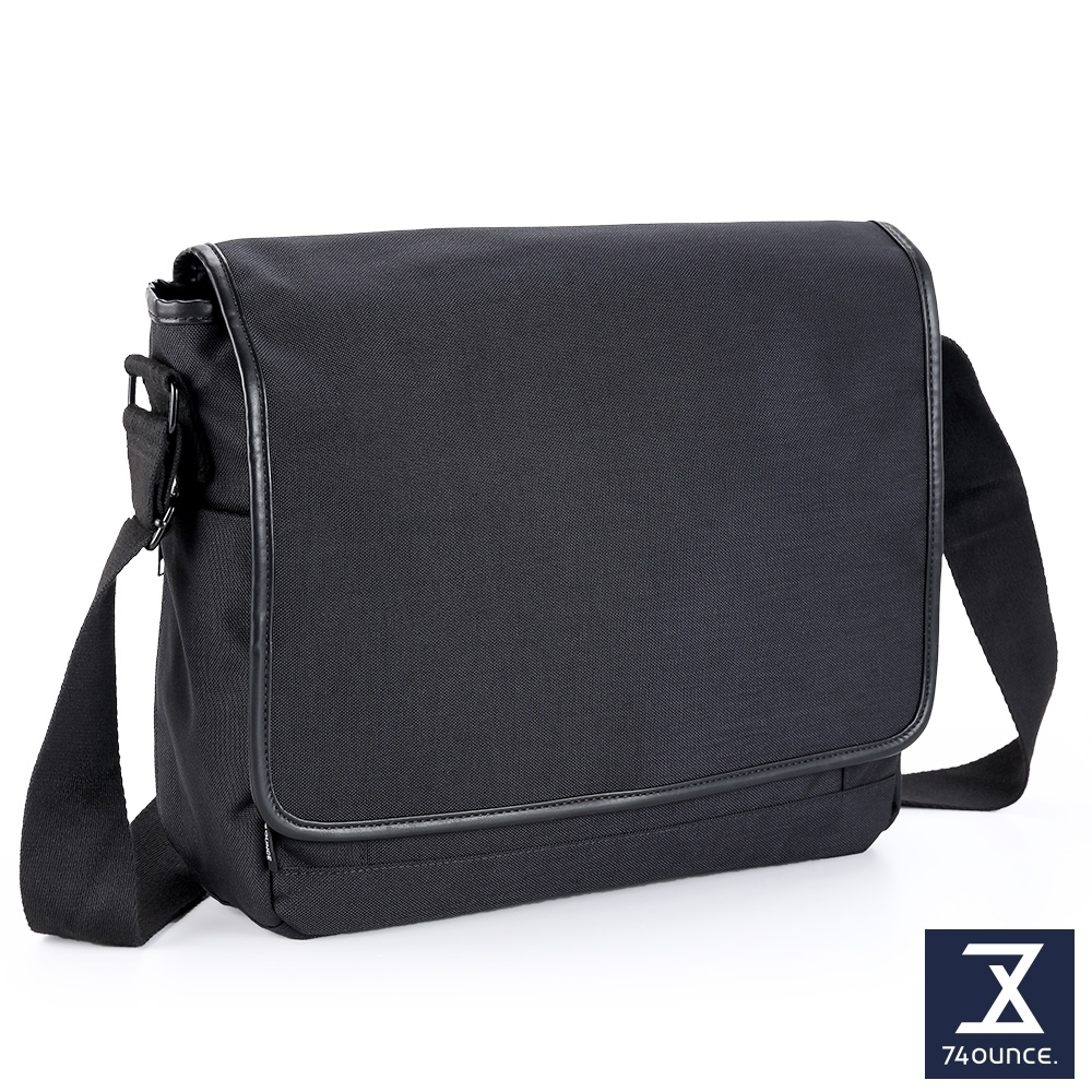 74盎司 Tidy簡約素色側背包(大)[G-1065-TI-M]黑
