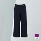 ILEY伊蕾 斜羅紋挺版修飾寬褲(藍)