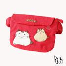 ABS貝斯貓 可愛貓咪手工拼布小朋友腰包(活力紅)88-033