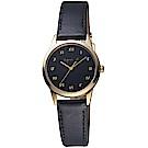 agnes b.法式簡約太陽能腕錶(BU9031P1)-27mm/黑x金