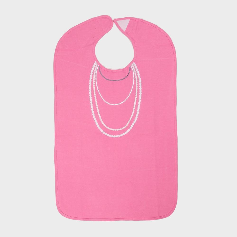 美國Frenchie MC 粉紅珍珠項鍊成人防水圍兜禮盒