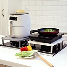 澄境 多功能氣炸鍋電磁爐增高收納置物架(1入)40.4x32x9.5~11 DIY