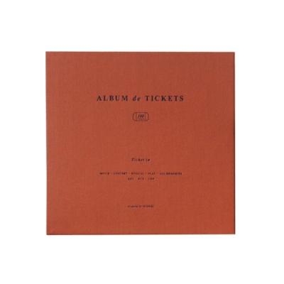ICONIC 美好時光票根記錄本V4.1(100入)-磚紅橘