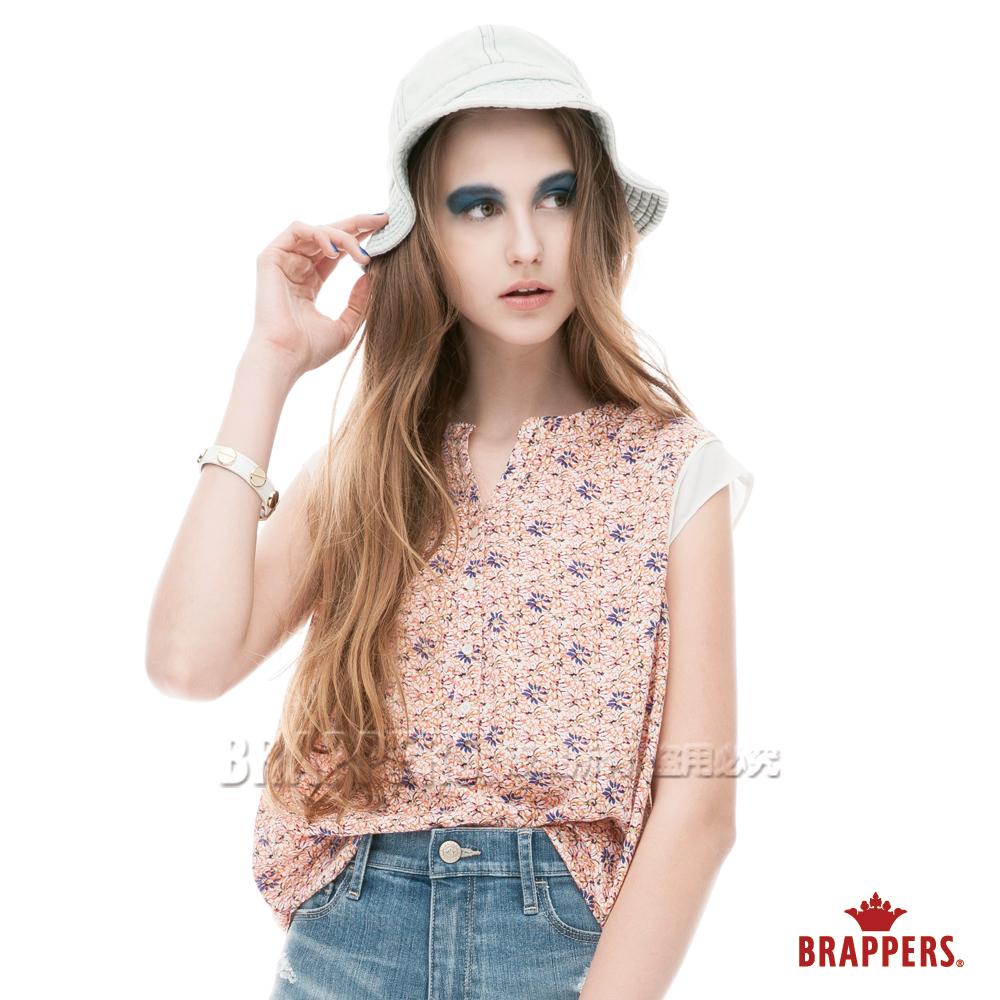 BRAPPERS 女款 半開襟印花背心-橘