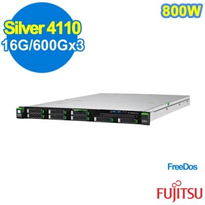 FUJITSU RX2530 M4 Silver 4110/16G/600Gx3/FD