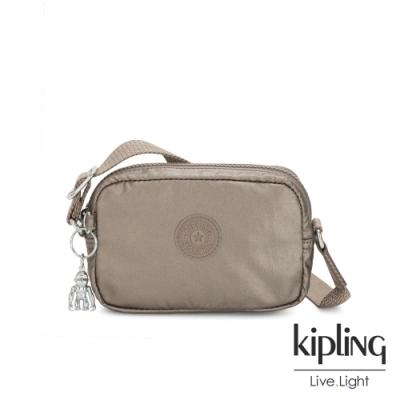 Kipling 優雅古銅棕灰斜側背相機包-SOUTA