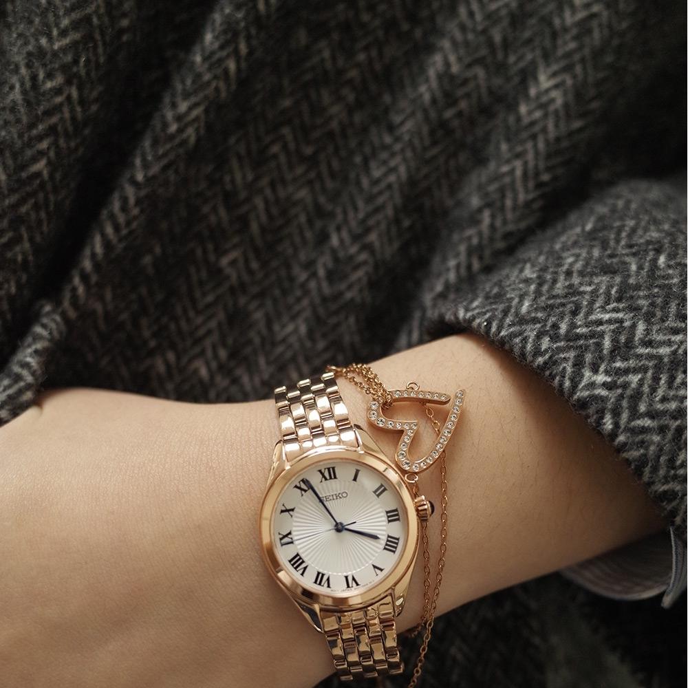 SEIKO 精工典雅羅馬時尚女錶(6N01-00G0K)SUR332P1