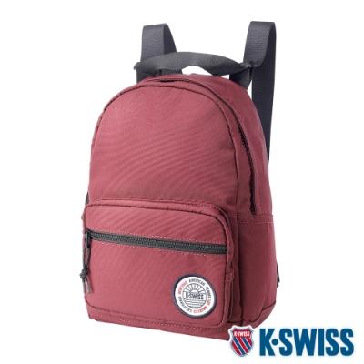K-SWISS Sunshine Small Backpack休閒後背包-酒紅
