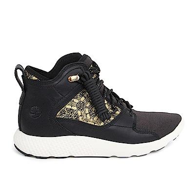 Timberland男款FlyRoam墨黑色真皮健行鞋