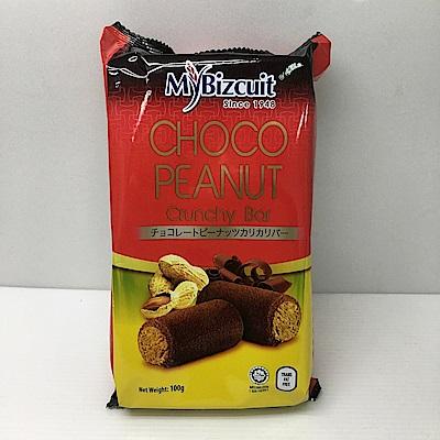 麥比客巧克力花生捲(100g)