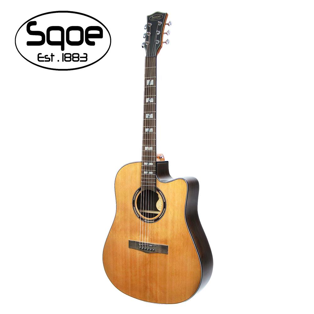 SQOE S450C 面單紅松木民謠木吉他