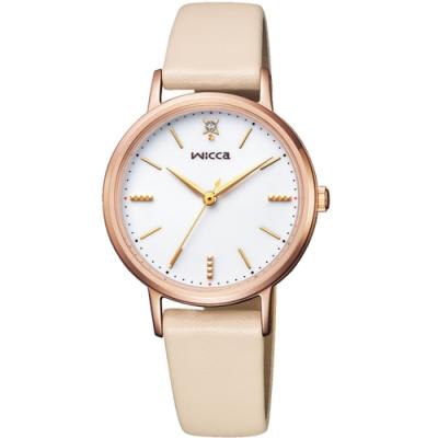 WICCA 少女系列廣告款 甜美太陽能女錶(KP5-166-10)-30.2mm