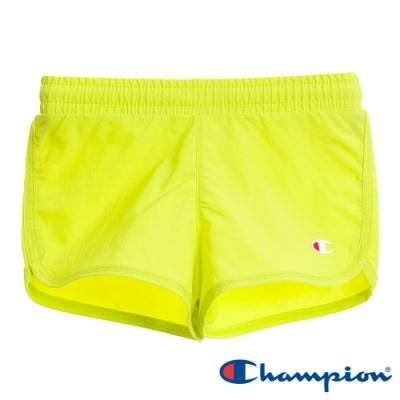 Champion EU童小CLogo短褲 螢光黃