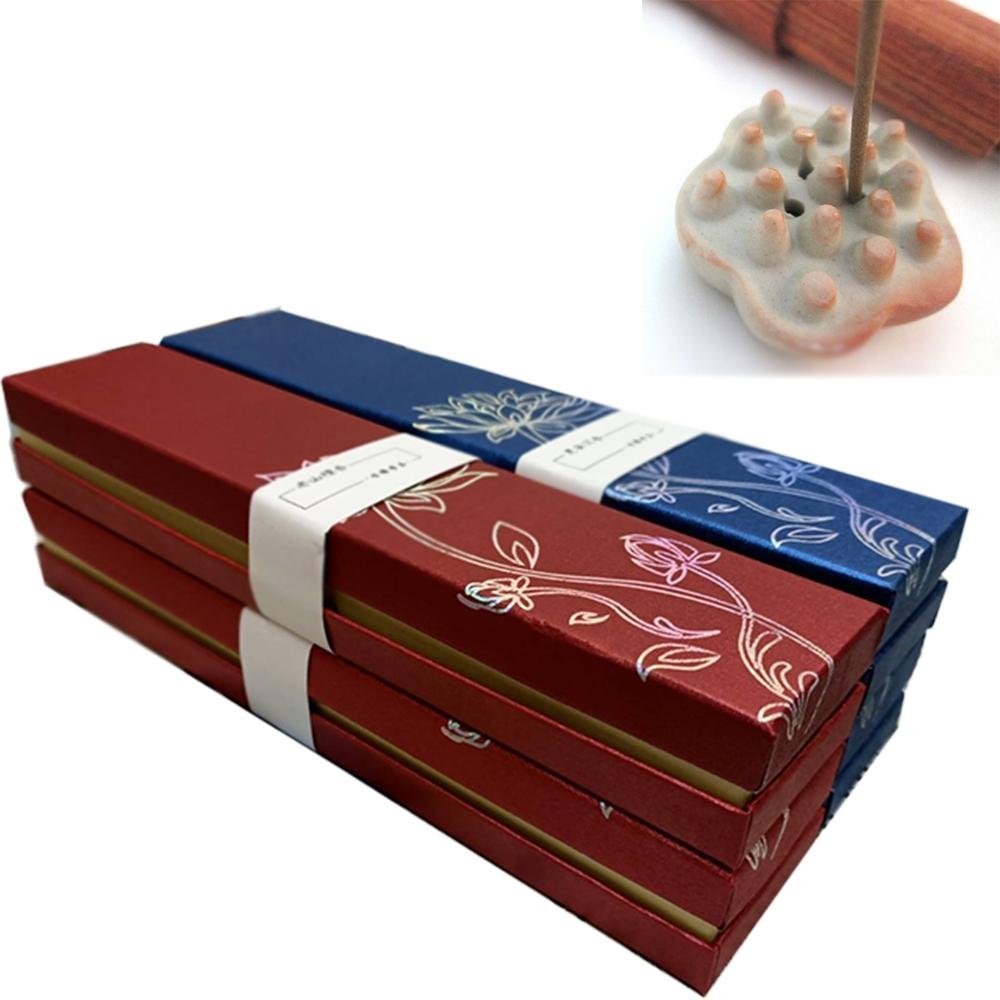 【原藝坊】天然線香 惠安沉香 老山檀香套組(四盒裝)附贈蓮藕香插