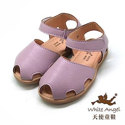 天使童鞋 簡約和尚涼鞋(小童)i926-紫
