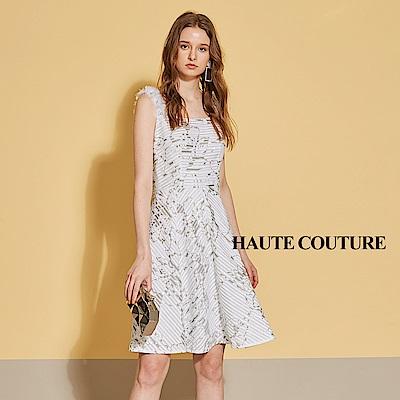 Haute Couture 高定系 精緻手工花飾禮服洋裝-鑽白