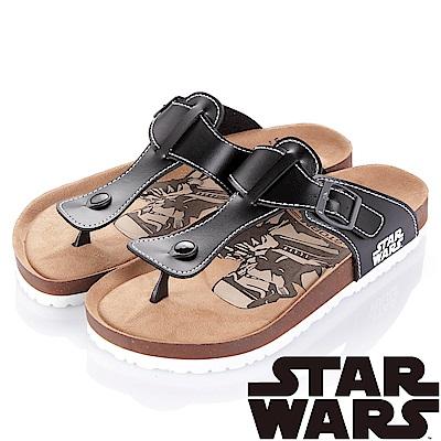 (雙11)StarWars 星際大戰-白兵 減壓腳床型夾腳拖鞋-黑